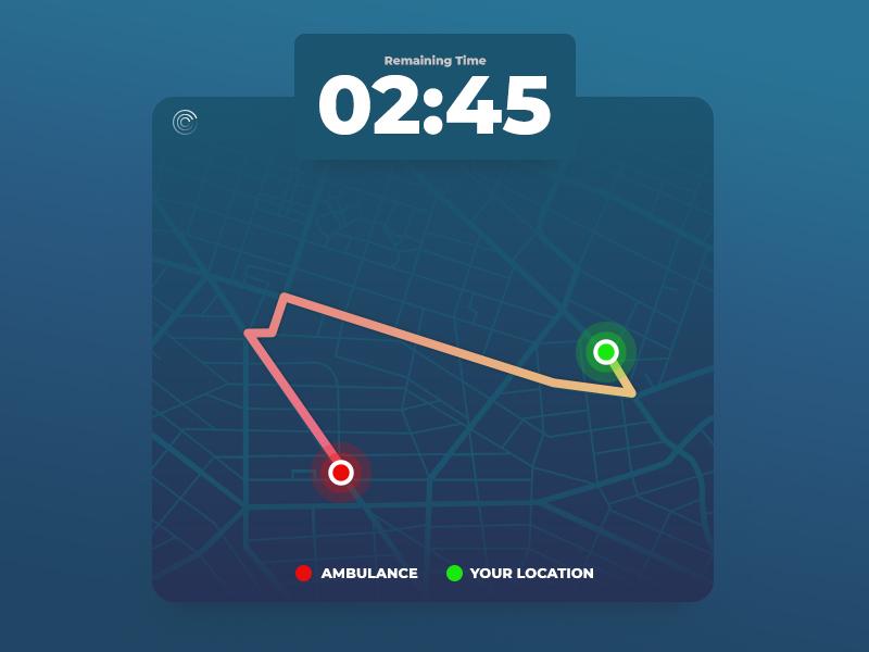 Ui020 - Location Tracker map tracker location locationtracker 020 dailyui