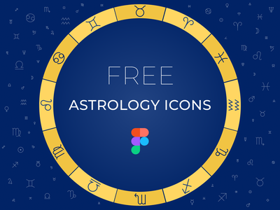 Free astrology signs in Figma aspects zodiac astro free symbols astrological figma set icons astrology