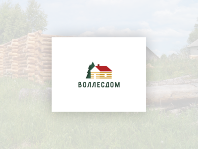 Vollesdom Logo lettering logotype wood woodworking forest building houses mark sign logo