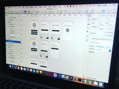 User Experience for New Project work in progress iphone android ios mobile mobile app user experience ux sketchapp debut wireframe