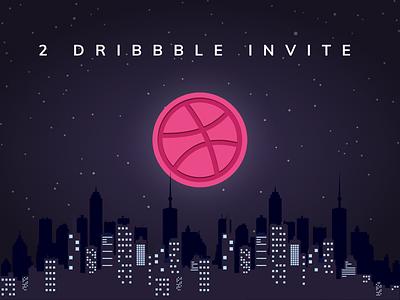 2 Dribbble Invite Giveaway dribbbleinvite design graphic landscape invite invitation illustration giveaway dribbble