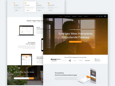 Mobile Company Website Design telecom photoshop sketchapp debut concept ux ui landing page user experience user interface web interface work in process