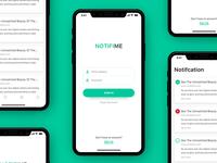 NOTIFIME Mobile App Design