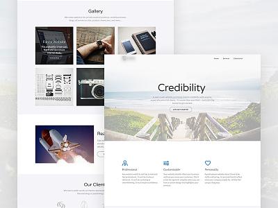 Minimalistic Website Design white minimal portfolio website web ux user interface ui landing page homepage