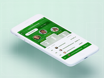 Football Prediction iOS App Animated Prototype photoshop after effects concept mockup interface ux ui mobile ios sketch leaderboard football