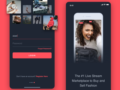 Mobile App Login and Onboarding Screens sign in login ecommerce dark app interface iphone x work in process iphone user interface user experience dribbble mobile concept sketch ios sketchapp ui ux
