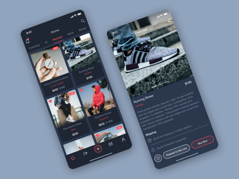 Product Listing ui iphone x work in process listings user interface user experience user center design ux designer ux-ui sketchapp sketch iphone iphonex ios interface dribbble dark app ecomerce dark concept