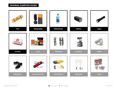 Minimal Camping List minimal checklist camping pdf template sketch freebie