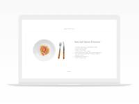 Single Serving Club - Minimal Recipe Concept