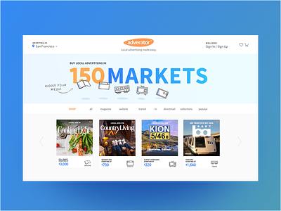Homepage refresh promo blue ecommerce homepage