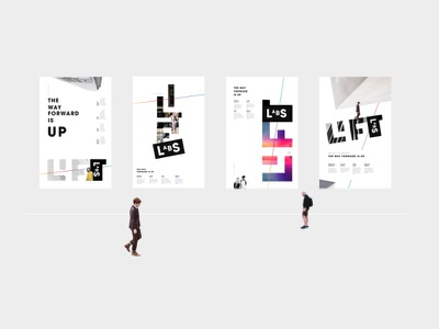 Poster Set typography lift graphic design poster