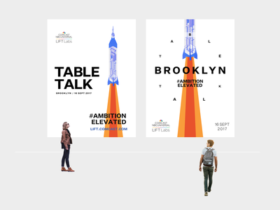 Poster Set startup brooklyn launch rockets graphic poster branding