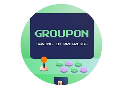 Saving In Progress branding saving groupon ecommerce illustration