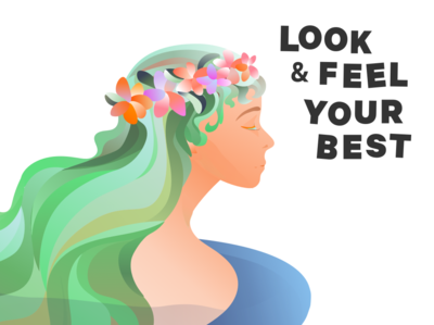 Groupon / Look & Feel Your Best beauty product branding design illustration ecommerce