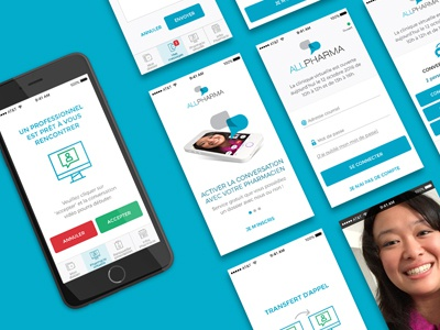 ALLPharma - Design the experience and UI for mobile application design mobile ui ux