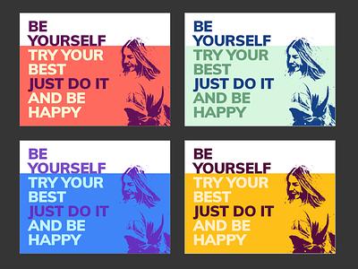 Be Yourself happy fun image typo color