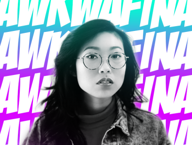 Awkwafina / 2020 Golden Globe Winner hero illustrator comp photoshop representation awards asian aapi winner globes golden awkwafina