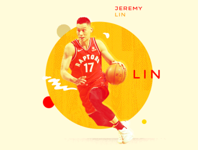 Jeremy Lin / NBA Finals Champion sports athlete asian lin jeremy nba basketball illustration typography design photoshop aapi