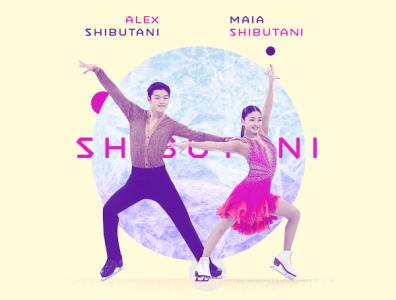 Alex and Maia Shibutani / Olympic Bronze Medalists ice skating shibutani espn athlete asian sports illustration typography design photoshop aapi