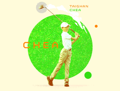 Taighan Chea masters golf chea taighan awards espn athlete asian illustration sports typography design photoshop aapi