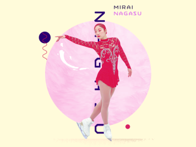 Mirai Nagasu nagasu mirai skating awards espn athlete asian illustration sports typography design photoshop aapi