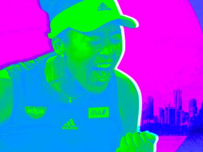 Naomi Osaka / Grand Slam Champion tennis sports osaka naomi aapi photoshop typography design illustration