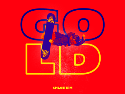Chloe Kim / Olympic Gold Medalist espn snowboard kim chloe typography sports photoshop design illustration aapi