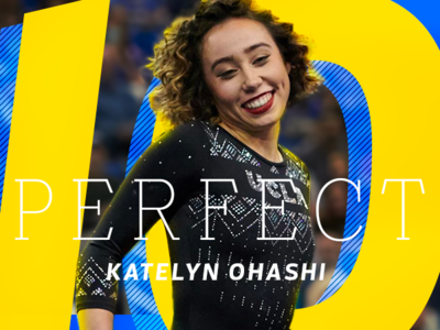 Katelyn Ohashi illustration ohashi katelyn gymnastics espn typography sports photoshop design aapi