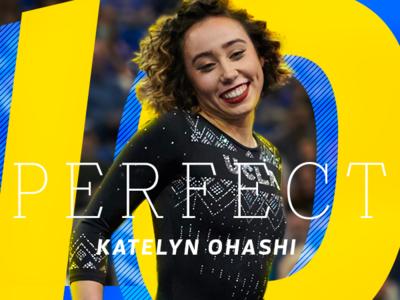 Katelyn Ohashi illustration ohashi katelyn gymnastics espn typography sports photoshop design aapi
