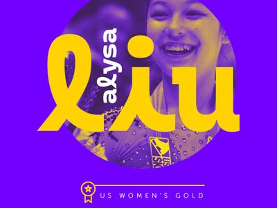 Alysa Liu / US Women's Gold athlete asian liu alysa espn sports illustration typography photoshop design aapi