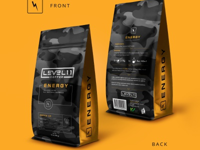 Level 11 coffee package design mockup package roast coffeeshop coffee bag coffee pouch pouch coffee package coffee bag design