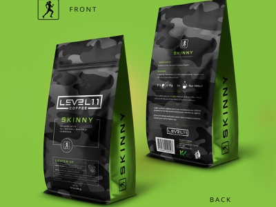 Level 11 coffee package design mockup coffee package roast pouch package design coffee bag coffee coffe pouch