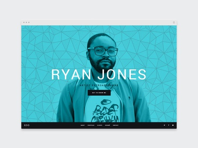 EZIO | Freelancer webdesign visual artist freelancing theme wordpress portfolio freelancer