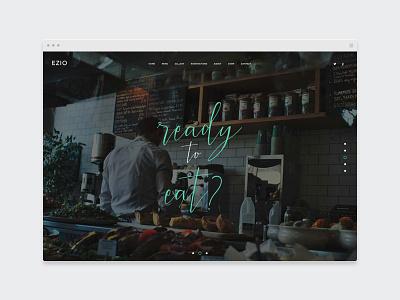 EZIO | Restaurant one-page webdesign chef theme wordpress portfolio restaurant