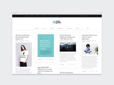 EZIO | Creative Masonry Blog wordpress webdesign theme blogging portfolio masonry blog