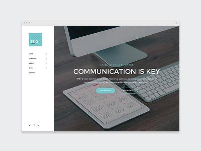 EZIO | Agency agency webdesign visual artist freelancing theme wordpress portfolio freelancer