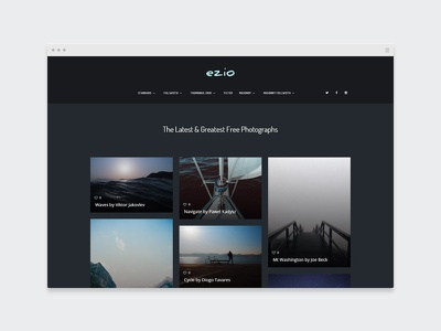 EZIO | Photography Masonry Blog designer agency creative webdesign visual artist theme wordpress showcase portfolio photography