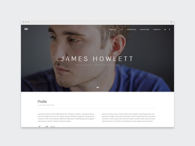 EZIO | Freelancer Resumé resume webdesign visual artist freelancing theme wordpress portfolio freelancer