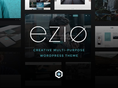 EZIO | Promo Material designer agency creative webdesign visual artist freelancing theme wordpress business portfolio multi-purpose
