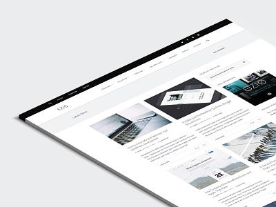 EZIO | Blogger Sneak Peek wordpress webdesign theme blogging portfolio masonry blog