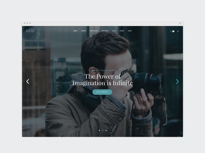 EZIO | Modern designer agency creative webdesign visual artist freelancing theme wordpress business portfolio multi-purpose