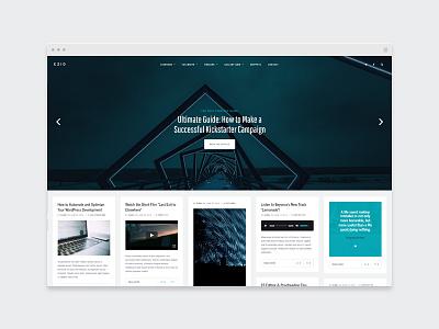 EZIO | Visual Masonry Blog wordpress webdesign theme blogging portfolio masonry blog