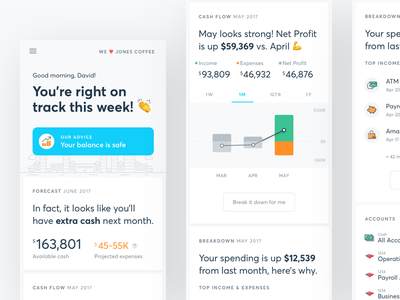 Small Business Dashboard expenses cashflow dashboard finance flat ux ui