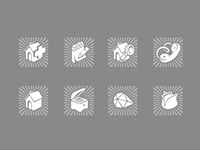 Set of simple icons for property site