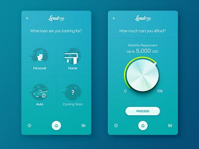 When Flat meets Skeuomorph fintech finance layout interface lend loan mobile design ui app