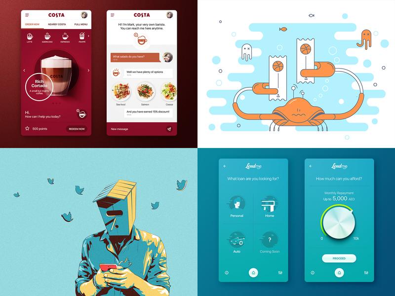 2018 flat icons vector design ui mobile illustration app