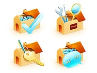 Set of icons for Real Estate company