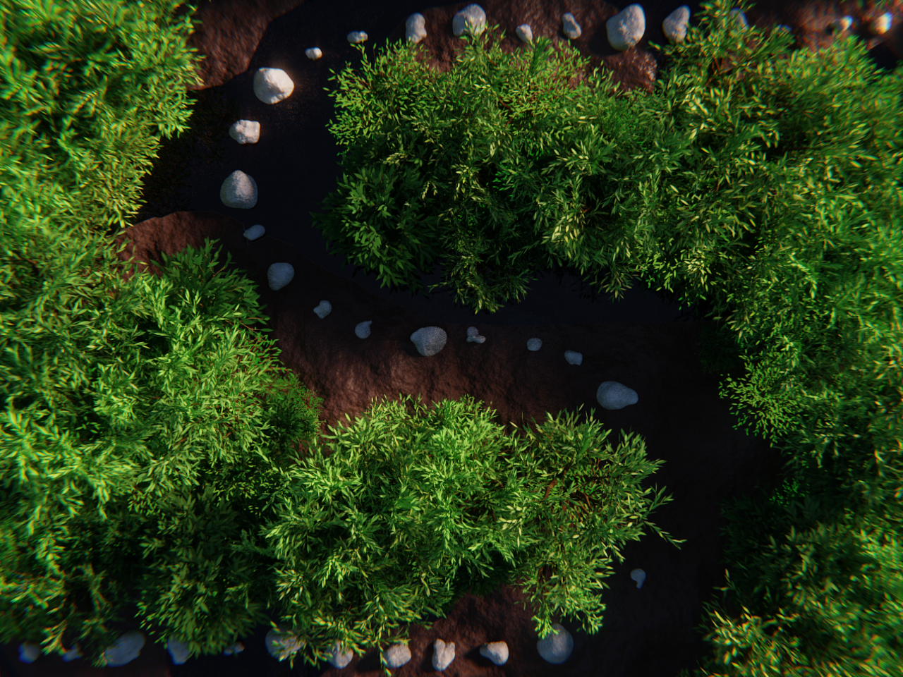 S - 36 Days of Type rocks tree forest abstract design 36 days of type type cycles blender 3d