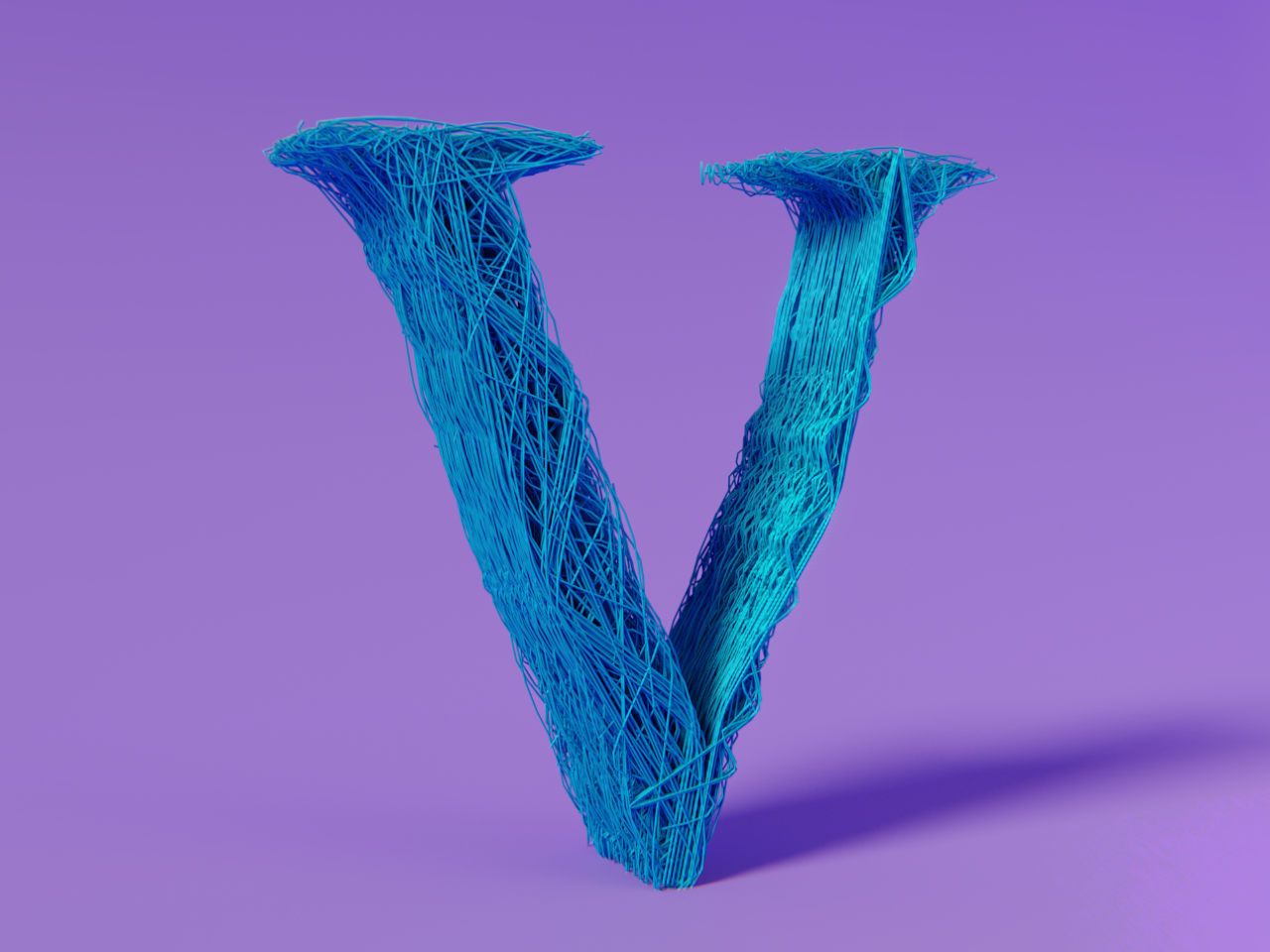 V - 36 Days of Type procedural shine abstract design 36 days of type type cycles blender 3d