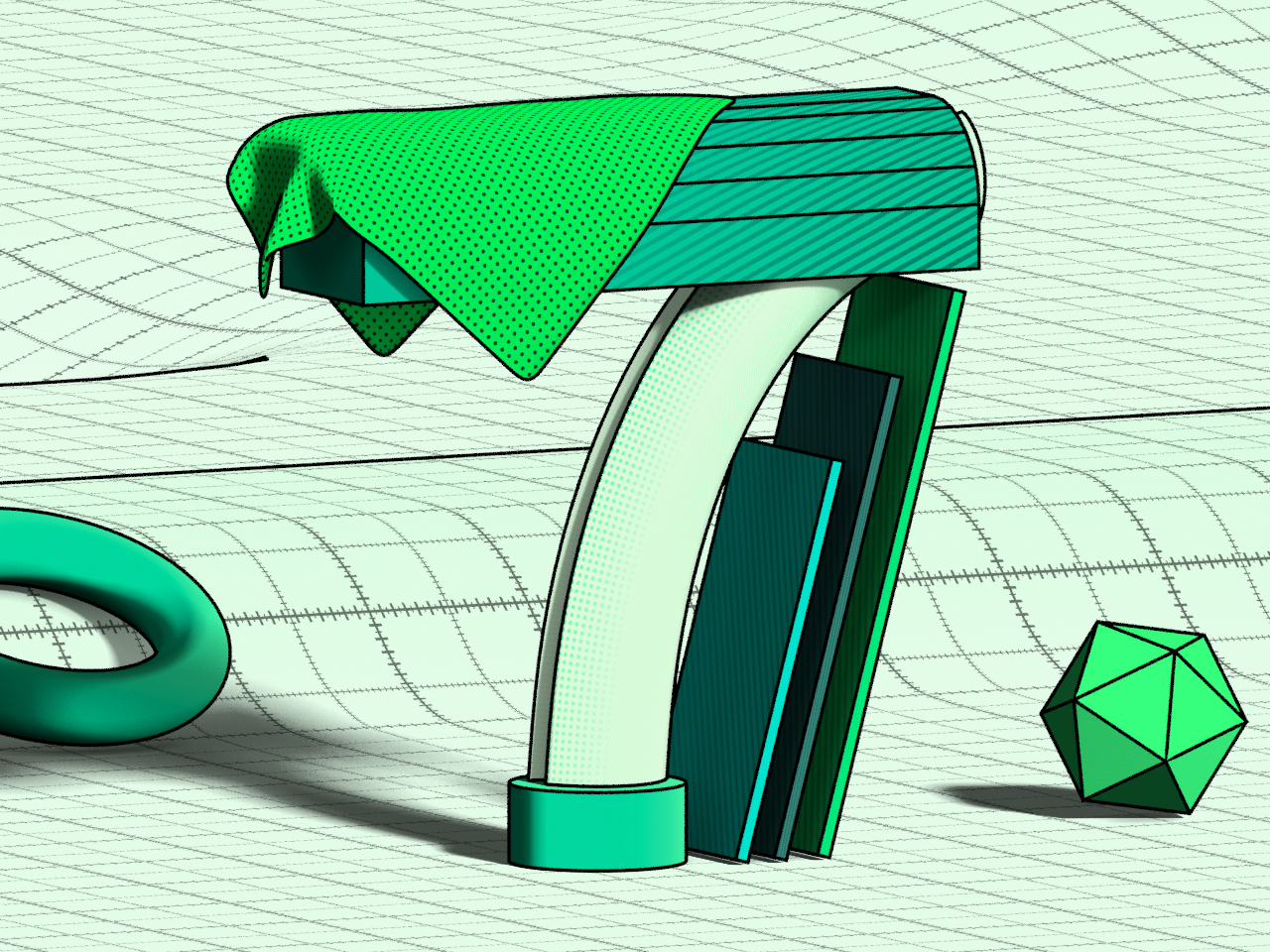 7 - 36 Days of Type shapes type art procedural geometry abstract design 36 days of type type cycles blender 3d